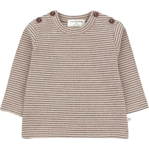 Jasper T-shirt With Thin Stripes, Pink - Tees - 1