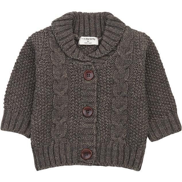 Jungfrau Textured Knit Cardigan, Grey