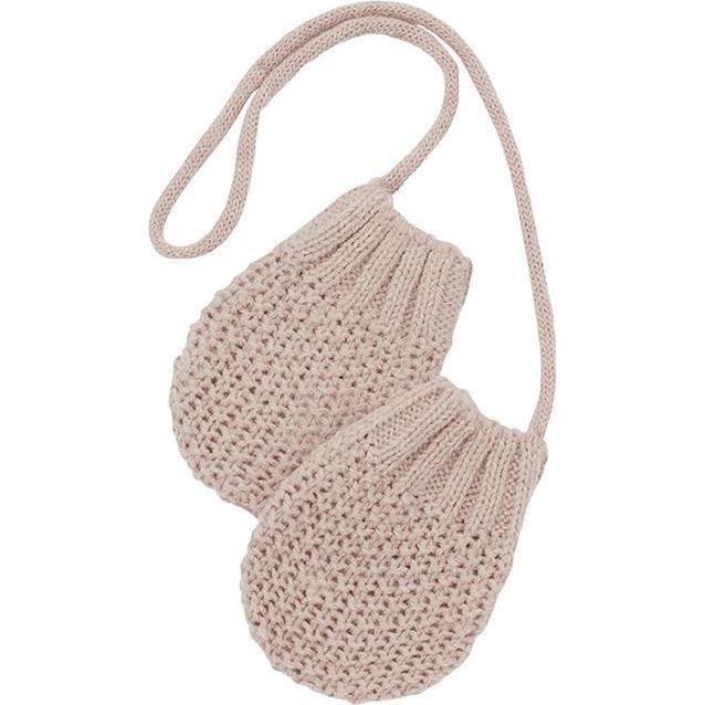 Grimsel Textured Knit Mittens, Pink