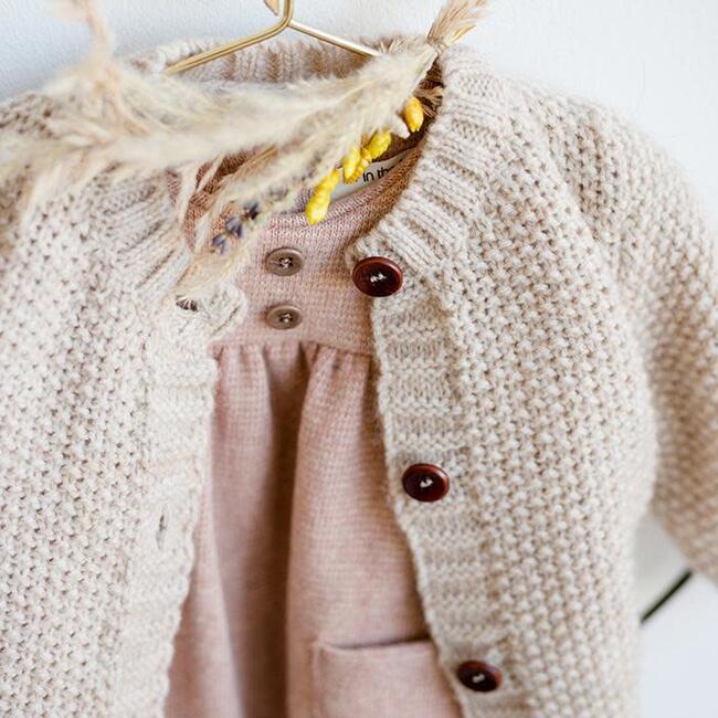 Furka Textured Knit Sweater, Beige