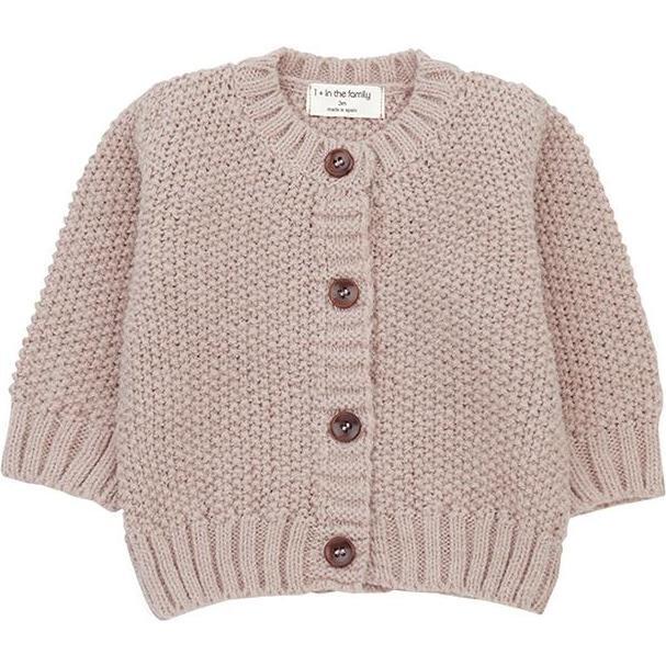 Furka Textured Knit Sweater, Pink - Sweaters - 1