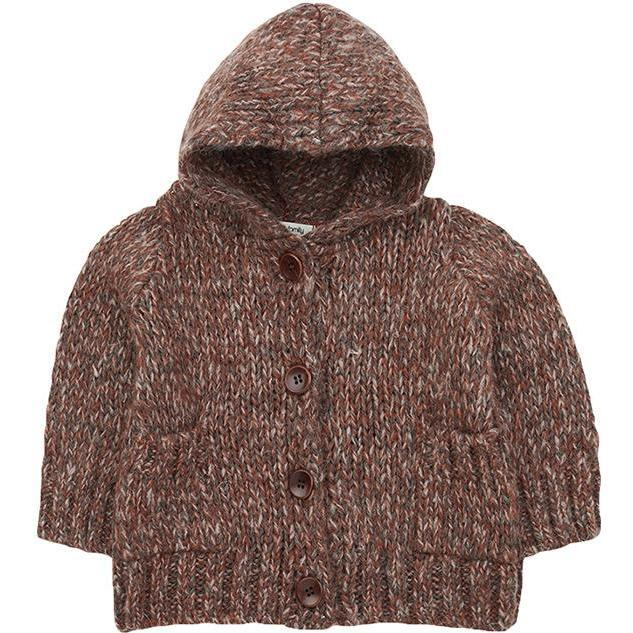 Dom Sweater With Hood, Brown