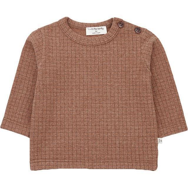 Bulnes T-shirt With Check Print, Brown - Tees - 1