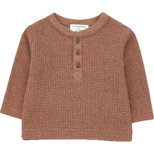 Braies Henley T-shirt, Brown