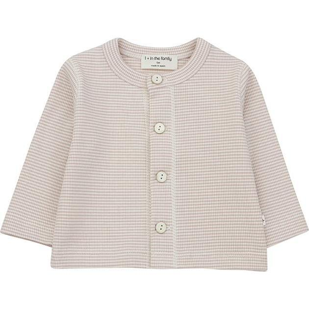 Agathe T-shirt With Thin Stripes, Pink - Tees - 1