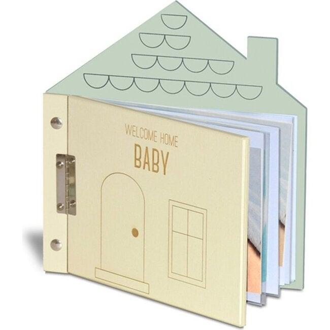 Welcome Home Baby Album, Cream/Mint