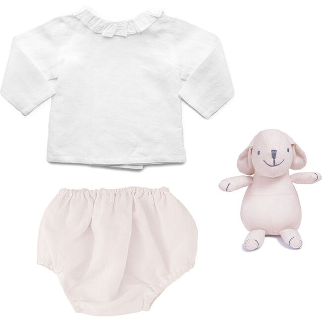 Outfit and Bunny Blossom Pink Linen