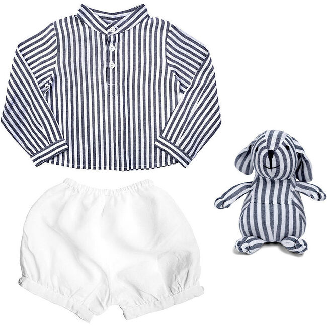 Outfit and Bunny Harbor Island Stripe