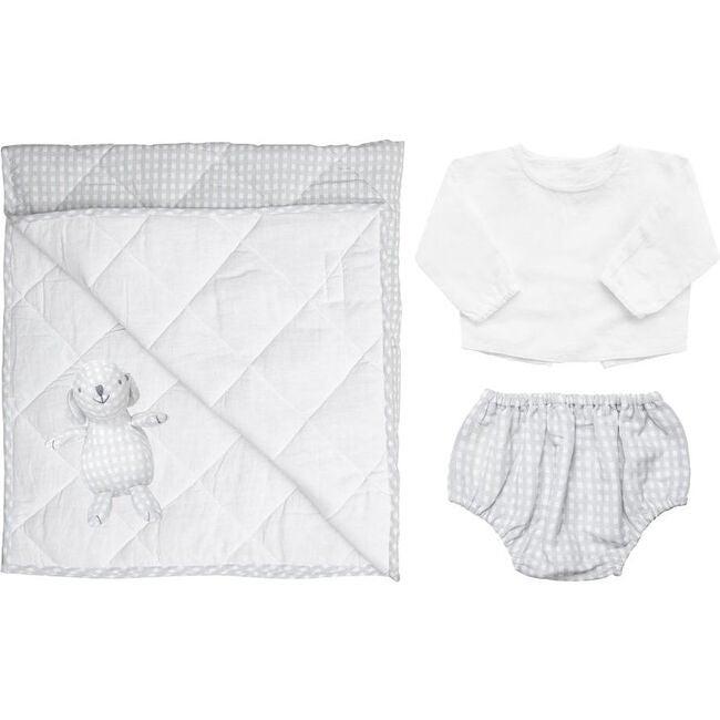 Newborn Essentials Grey Gingham