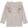 Baby Priya Cardigan, Blue & Natural Stripe - Cardigans - 1 - thumbnail