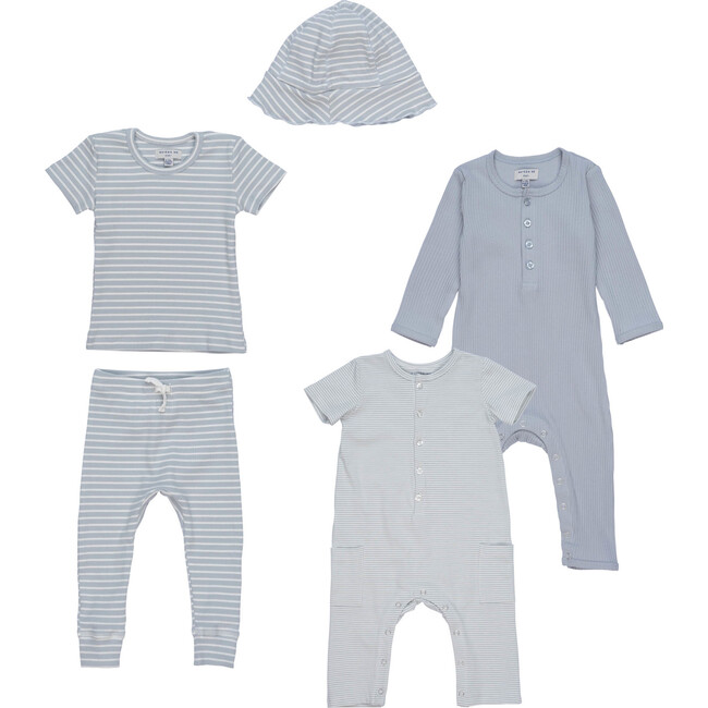 5 Piece Baby Set, Blue