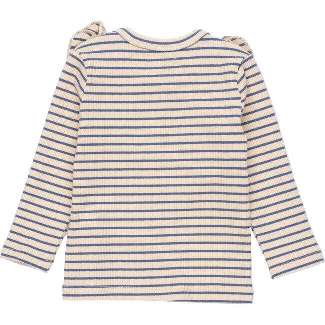 Baby Priya Cardigan, Blue & Natural Stripe