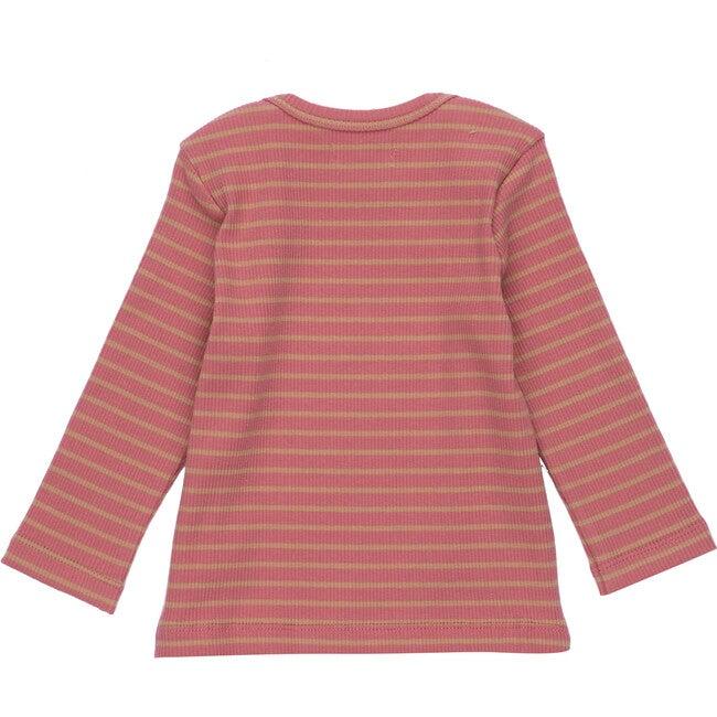 Baby Andie Long Sleeve Tee, Pink & Tan Stripe