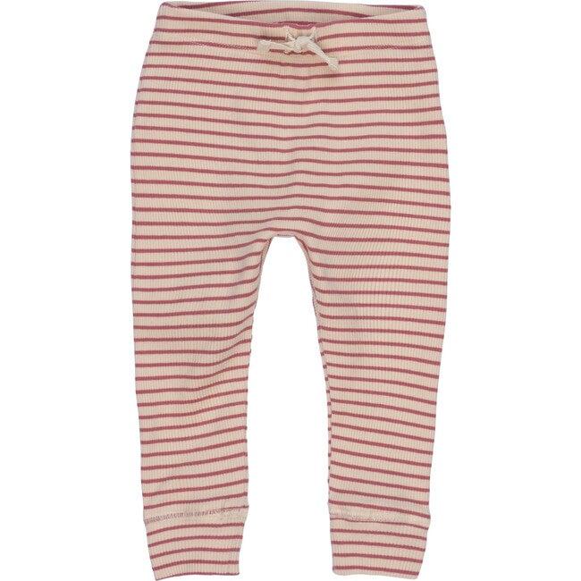 Baby Ricki Pant, Pink & Natural Stripe