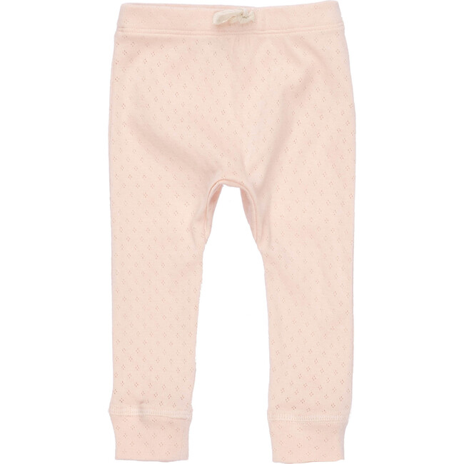 Baby Ricki Pant, Dusty Pink Pointelle