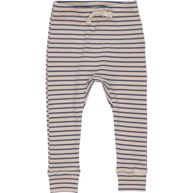 Baby Ricki Pant, Blue & Natural Stripe