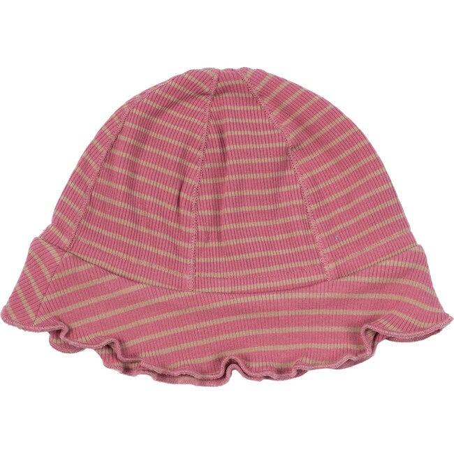 Baby Novi Hat, Pink & Tan Stripe