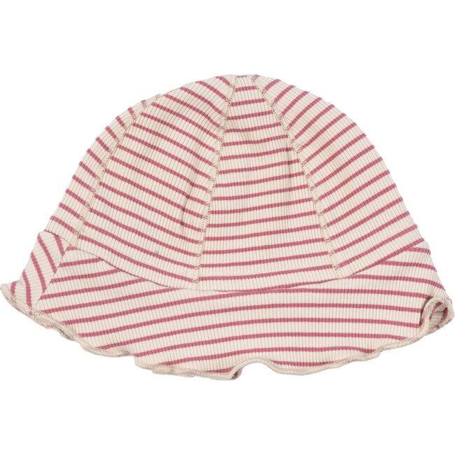Baby Novi Hat, Pink & Natural Stripe