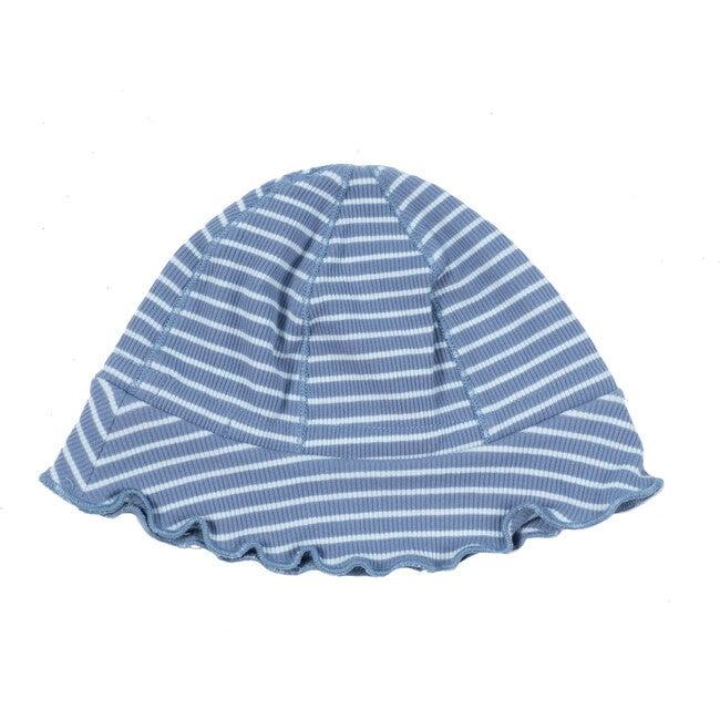 Baby Novi Hat, Blue & Light Blue Stripe
