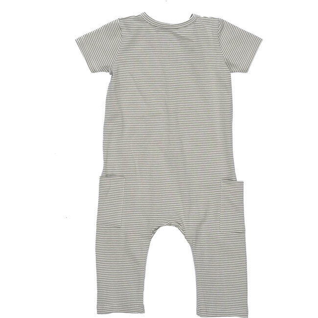 Baby Wilson Coverall, Sage Stripe