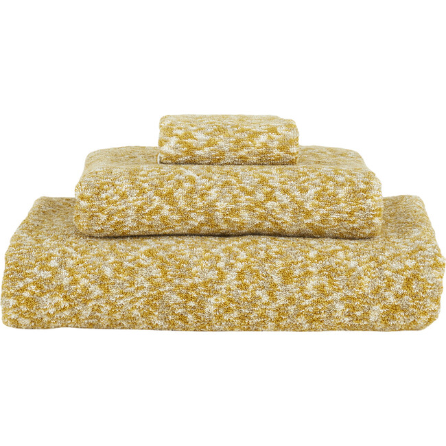Space Dye Terry Hand Towel, Mustard