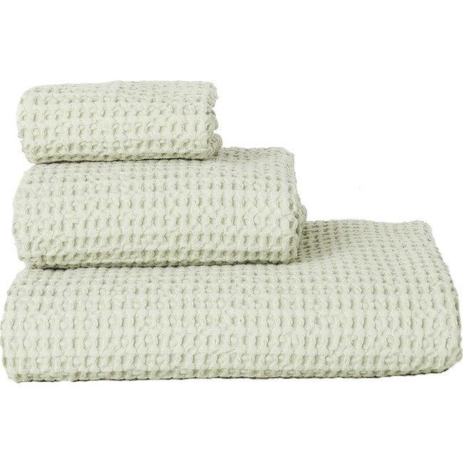 Set of 2 Simple Waffle Washcloths, Sage