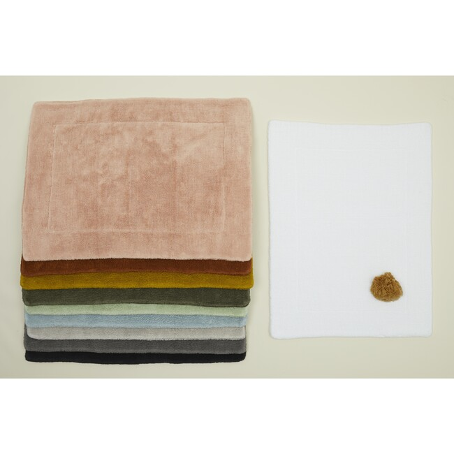 Simple Terry Bath Mat, Light Grey
