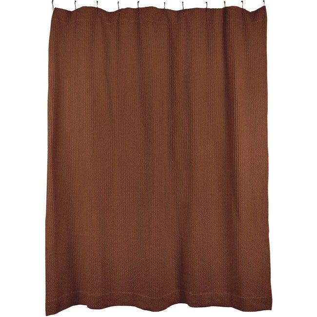 Simple Waffle Shower Curtain, Terracotta