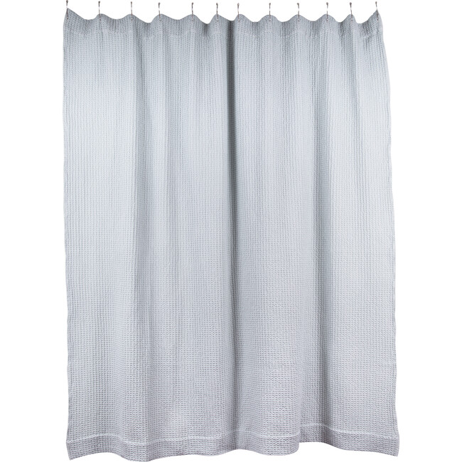 Simple Waffle Shower Curtain, Sky