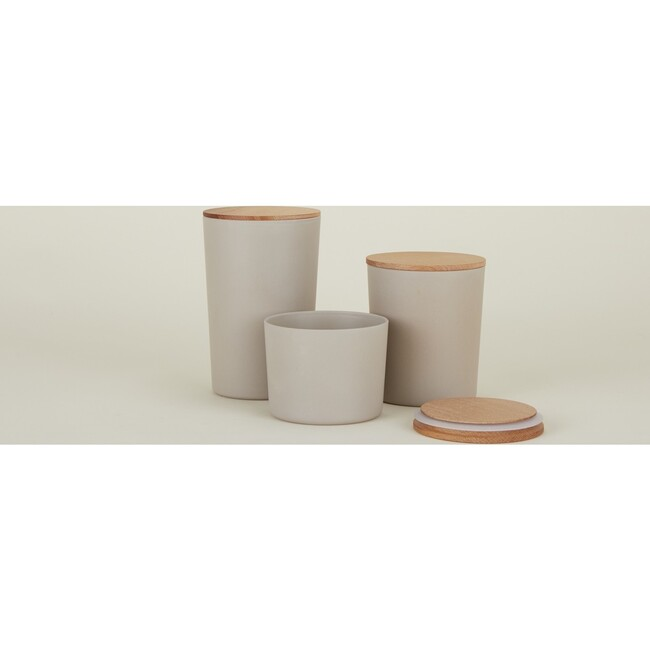 Essential Storage Container Set, Light Grey
