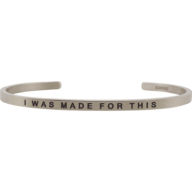 Women's I Was Made For This Bracelet, Silver - Bracelets - 1