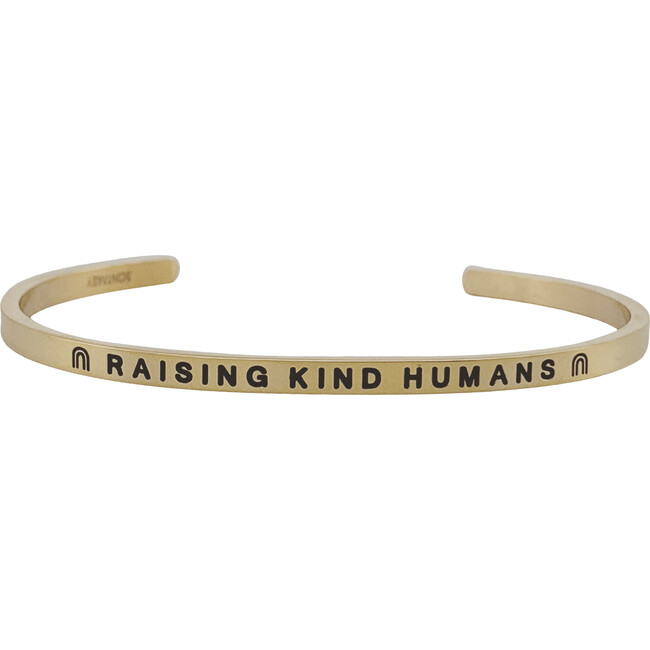 "Women's ""Raising Kind Humans"" Bracelet, Gold"