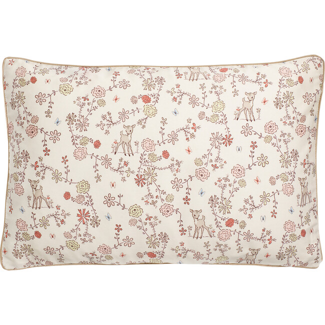 Into The Woodlands Toddler Pillow, Ivory/Rose Multi - Decorative Pillows - 1