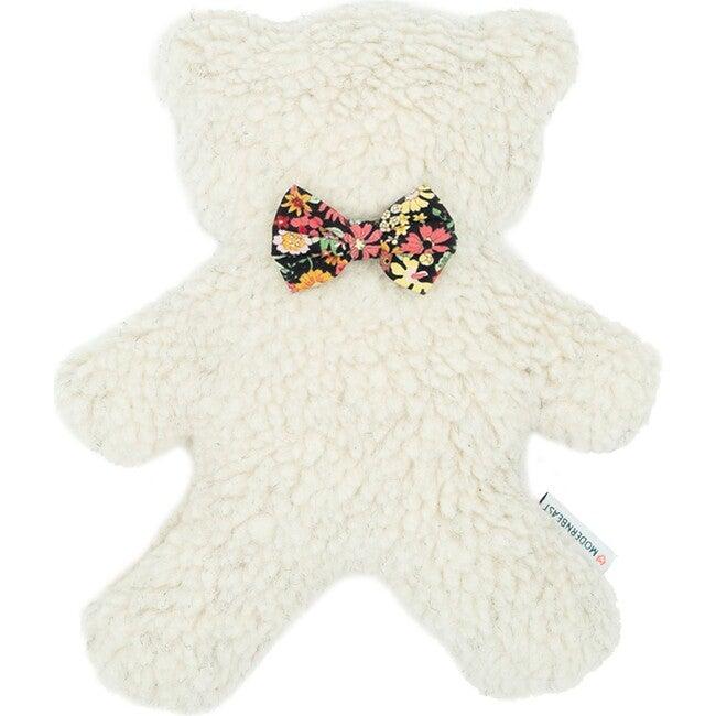 Cream Lavender Bedtime Bear, Black Floral - Pet Toys - 1