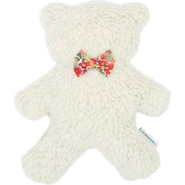 Cream Lavender Bedtime Bear, Red Floral