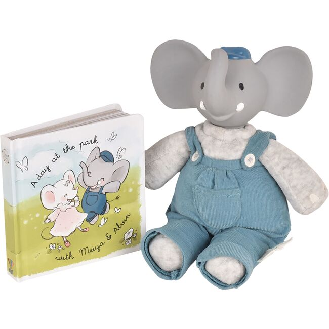 Alvin the Elephant Natural Rubber Heada Deluxe Toy with Book