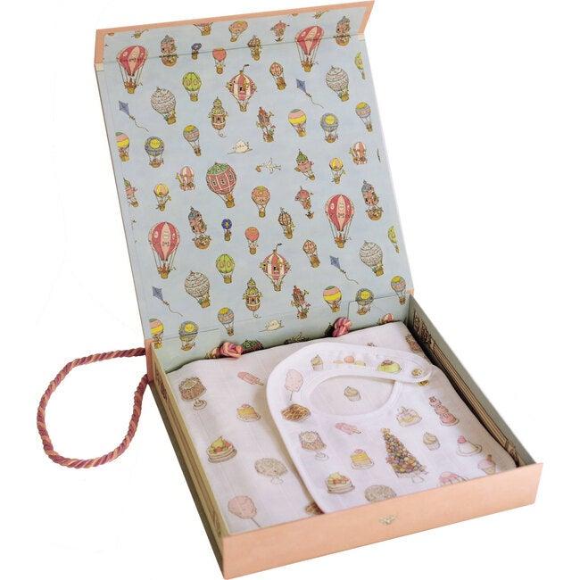 Swaddle & Bib Gift Set, Sweetie Pie