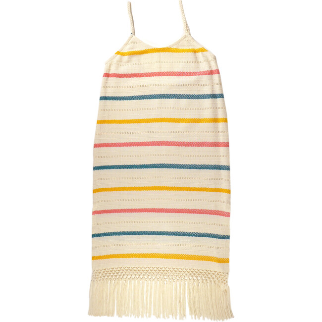 *Exclusive* Mini Annie Handwoven Dress, Rainbow Stripe - Cover-Ups - 1