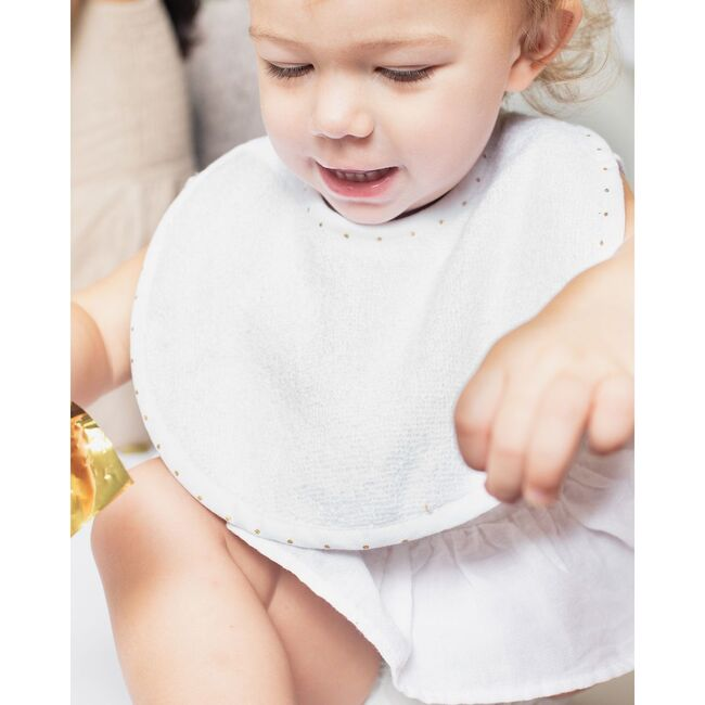 Newborn Bib, Gold Spot