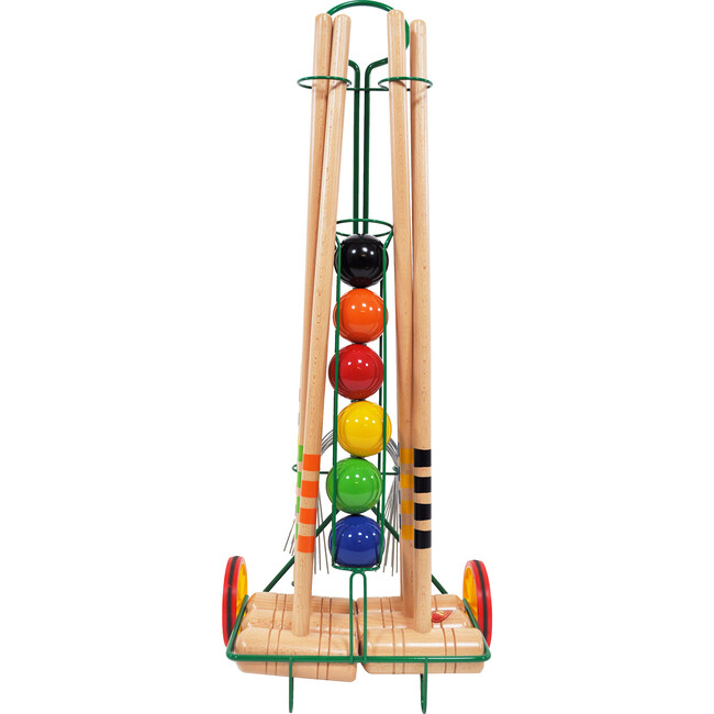 6 Player Croquet Set with Trolley