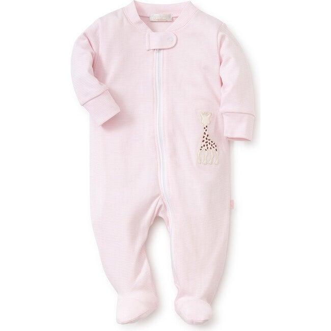 Sophie La Girafe Zipper Footie, Pink