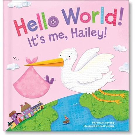 Hello World! Personalized Baby Book, Pink