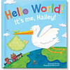 Hello World! Personalized Baby Book, Blue - Books - 1 - thumbnail