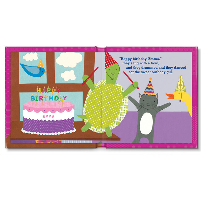 My Very Happy Birthday Personalized Board Book, Girl