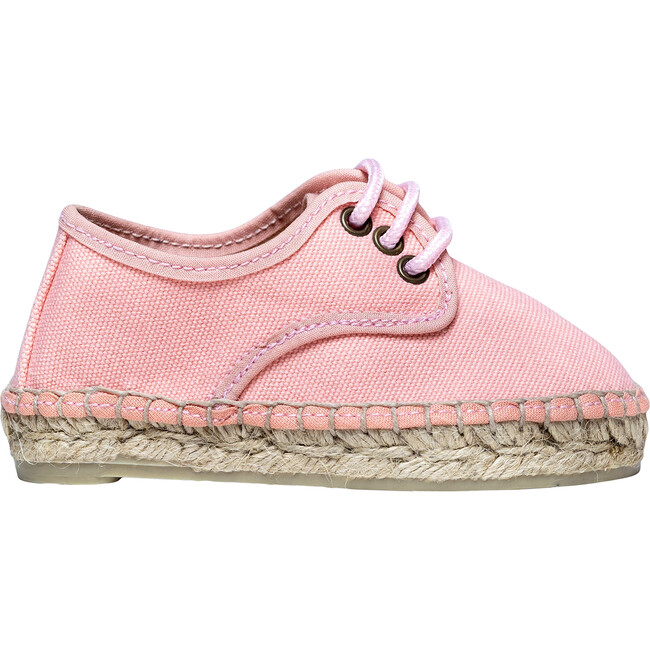 Lace-up Espadrille, Pink - Espadrilles - 1