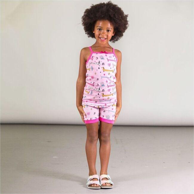 Puppy Print Pajama Sets, Pink