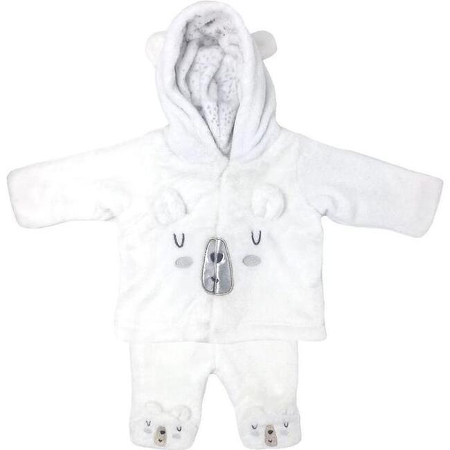 Arctic Polar Bear 2-Piece Set, White