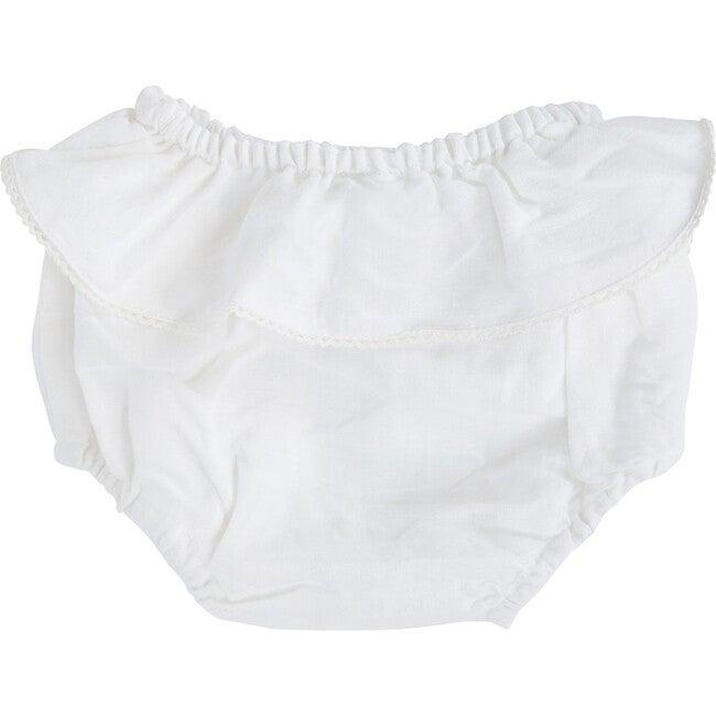 Frill Bloomer, White Linen