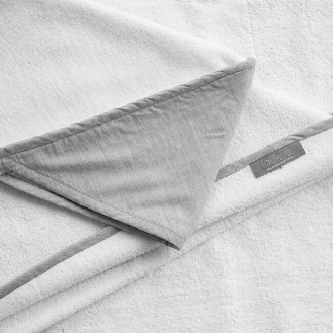 Hooded Towel, Husk Grey