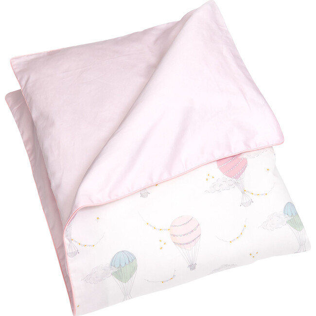 Touch the Sky Baby Duvet Set, Pink